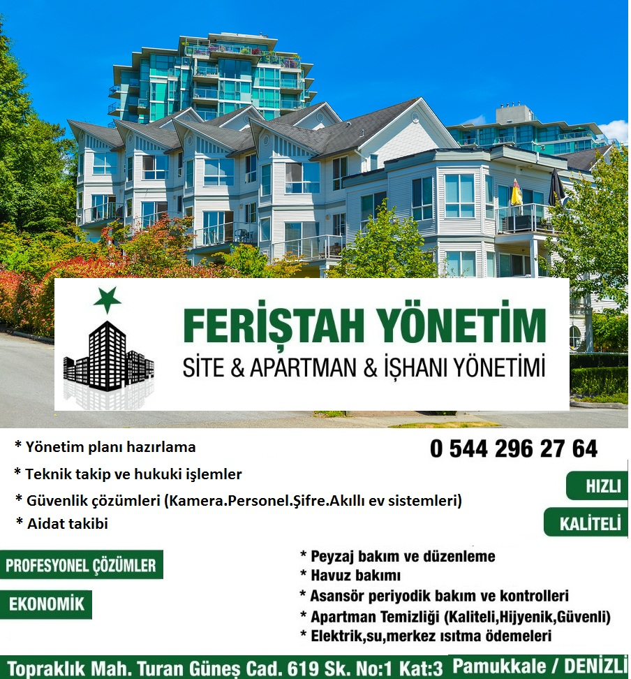 Site , Apartman ve İş Hanı Yönetimi